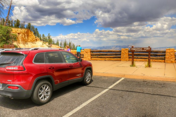 Bryce Canyon met auto