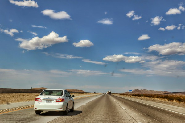 Interstate 15 richting Las Vegas