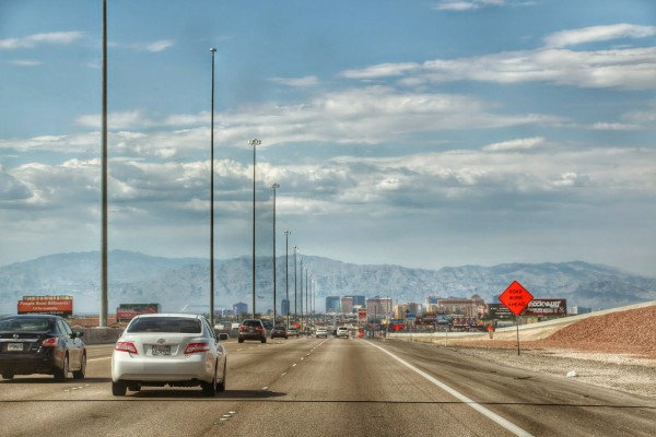 Las Vegas duikt op uit de woestijn