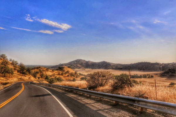 Route 63 naar Visalia
