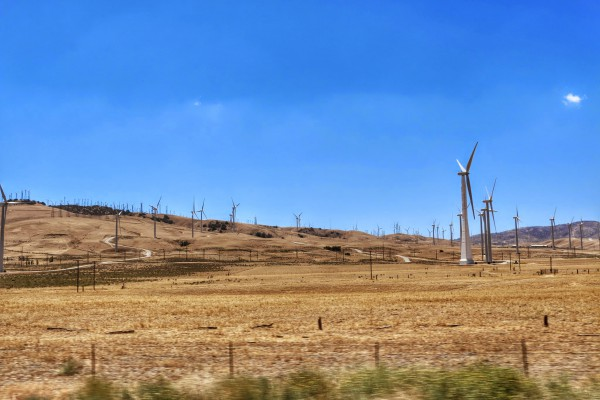 Windmolens onderweg naar Las Vegas