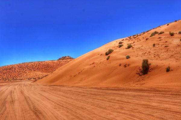 Route naar Antelope Canyon