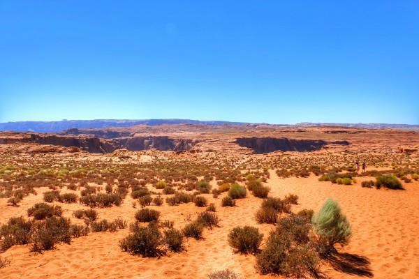 Wandelen naar Horseshoe Bend in Arizona
