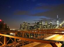 Brooklyn bridge avond