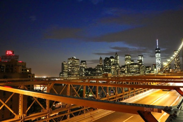 Brooklyn bridge avond