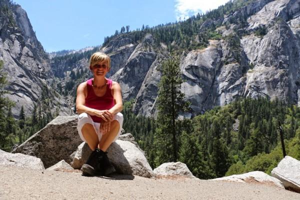 Yosemite wandeling naar waterval