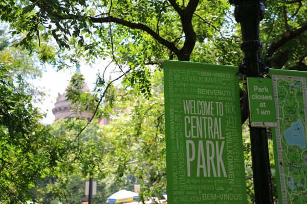 Central Park New York Welcome