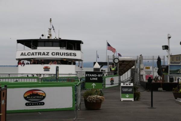 Alcatraz Cruises vertrek