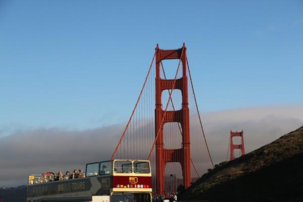 Big Bus Torus Golden Gate bridge San Francisco