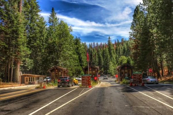 Ingang Yosemite National Park