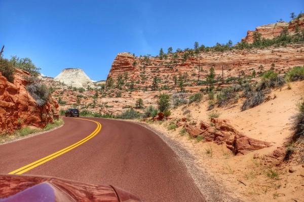 Route door Zion National Park