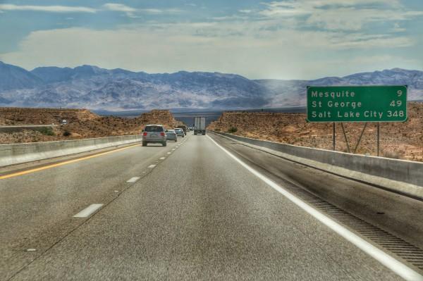 Route naar Zion National Park