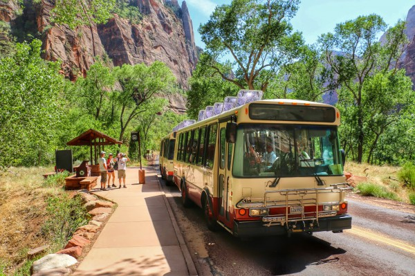 Shuttlebus Zion National Park