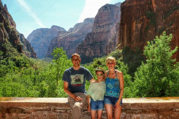 Zion National Park met kind