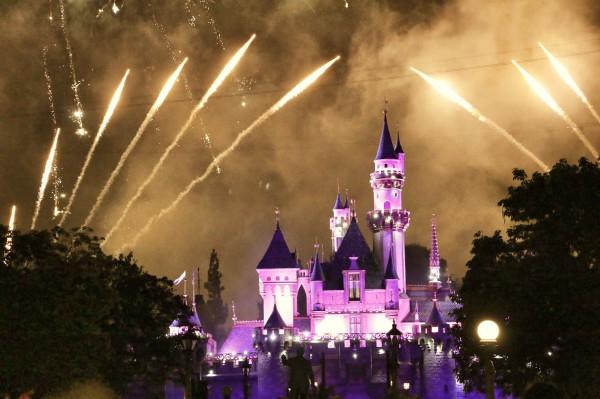 Disneyland Amerika vuurwerk