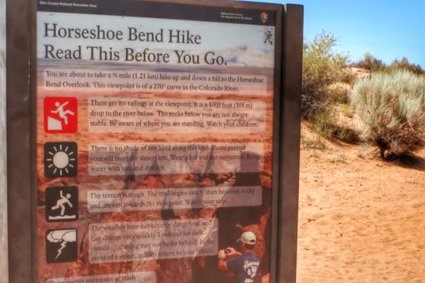 Horseshoe Bend Hike guidelines