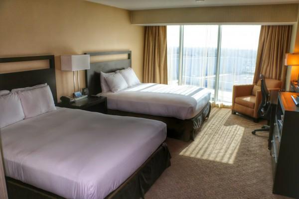 Hotelkamer Hilton Anaheim met zicht op Disneyland