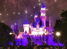 Kasteel Disneyland vuurwerk