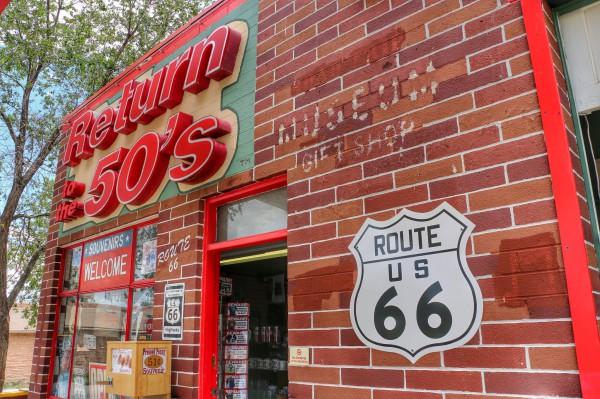 Route 66 souvenir winkel