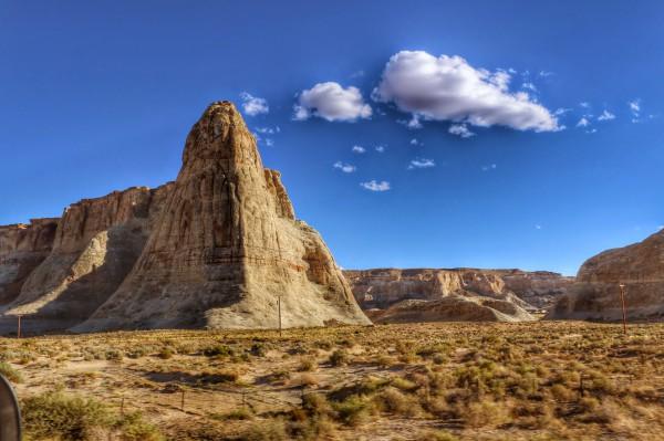 Route naar Page in Arizona