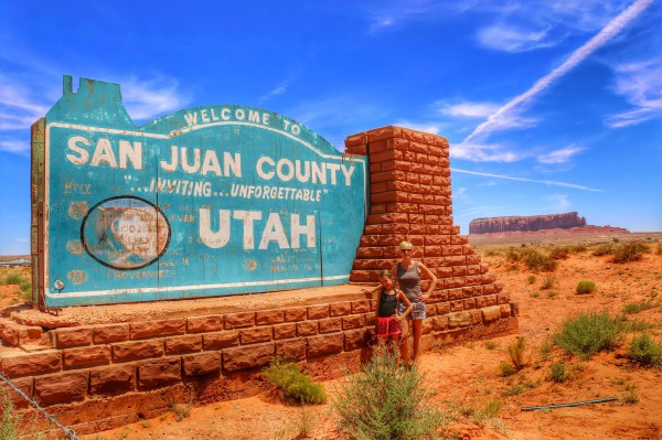 San Juan County Utah welcome sign