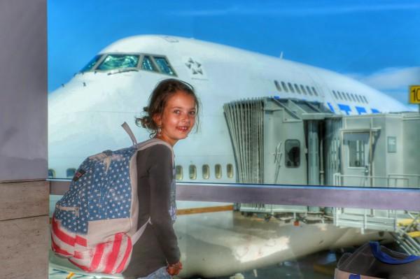 Met kind naar Amerika