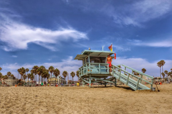 Venice Beach strand redder