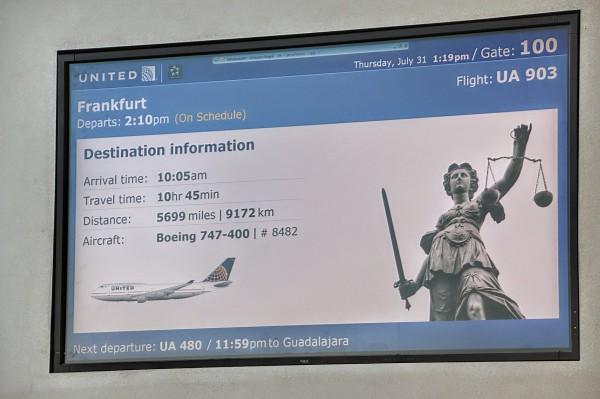 Vlucht San Francisco Frankfurt kilometer km