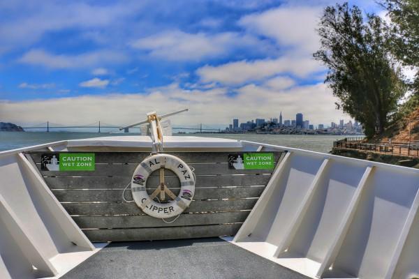 Alcatraz Island met de boot