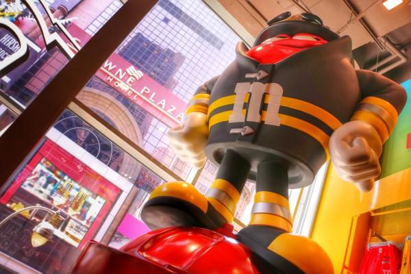 Grote M&M brandweerman