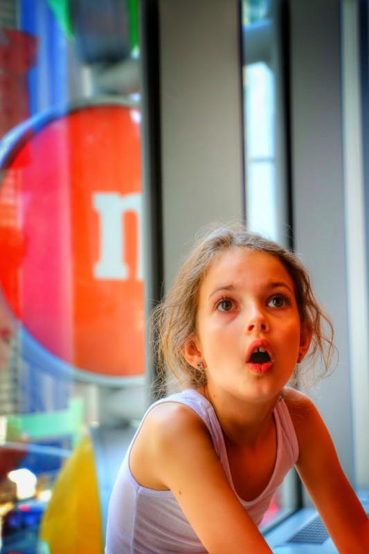 M&M store met kids