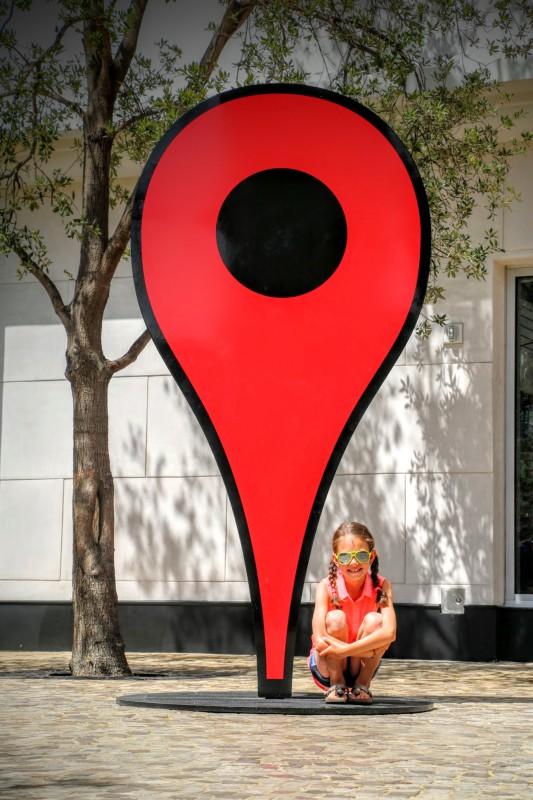 Google maps marker Las Vegas