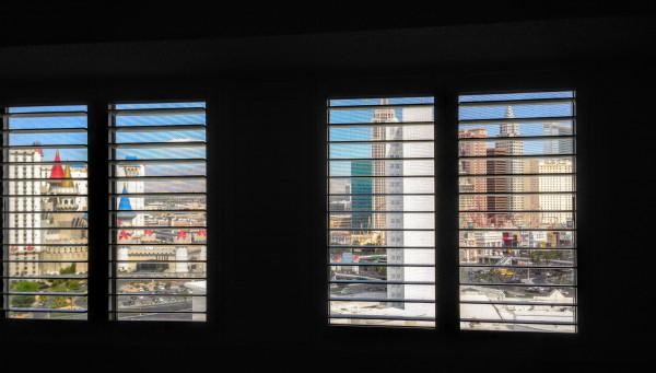 Uitzicht vanuit onze kamer in Tropicana