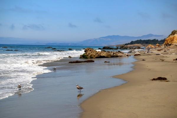 Westkust Amerika Cambria Moonstone Beach (2)