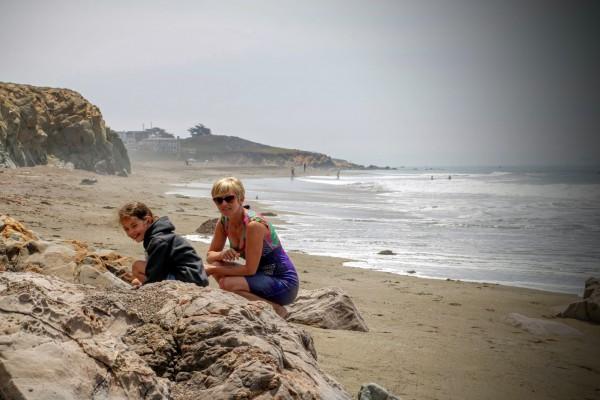 Westkust Amerika Cambria Moonstone Beach (3)