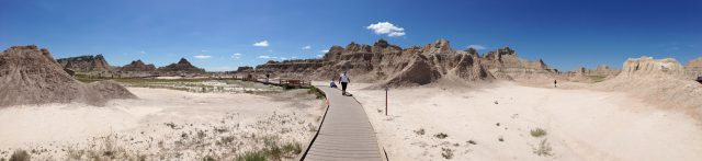 Wandelen in Badlands - South Dakota