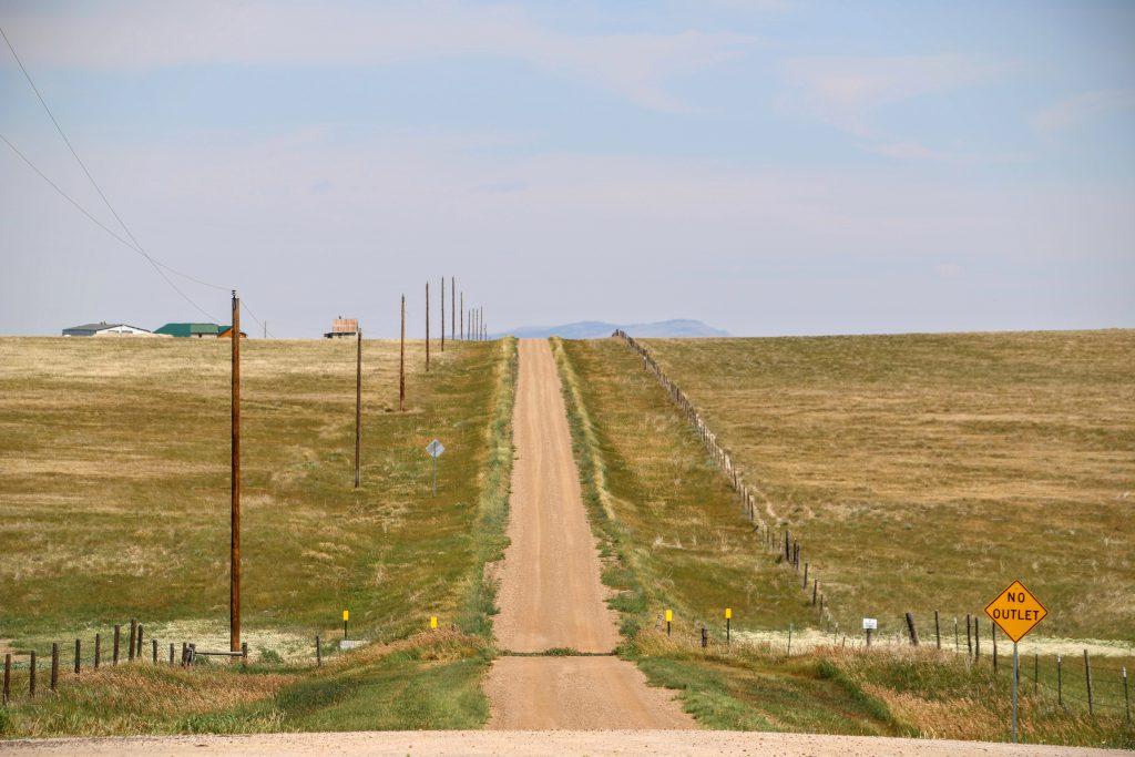 Een mooie weg door South Dakota
