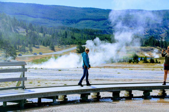 Wandelen in Yellowstone