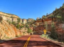 Weg door Zion National Park